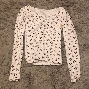 white top with rose designs from aeropostale